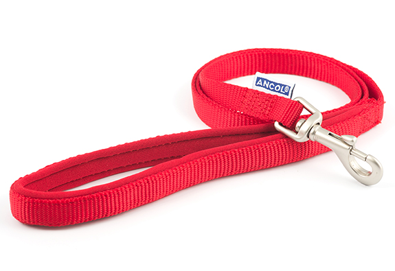 Red Nylon Leads with Padded Handles