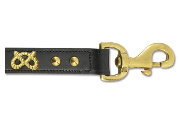 Decorated Leather Dog Leads