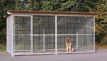 galvanised kennel panels