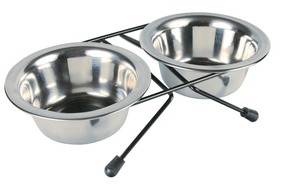 Double dog bowl stand